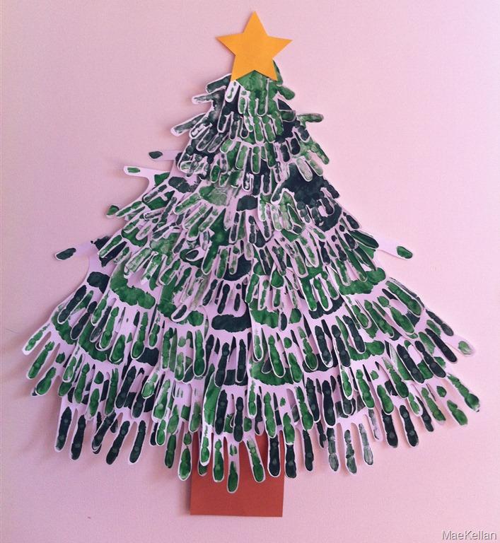 christmas tree handprint - photo #30